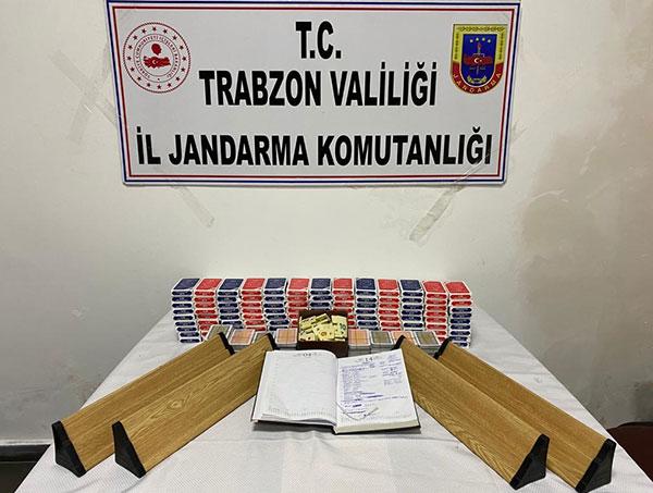 Trabzon'da kumar oynanan eve baskın