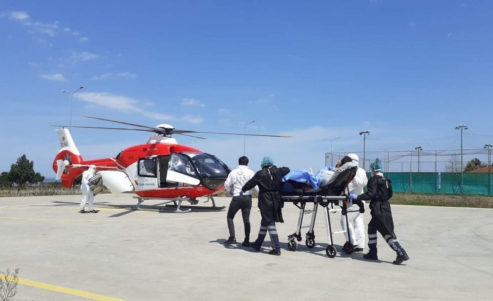 Trabzon'da hava ambulansı 2020'de 201 hasta için havalandı