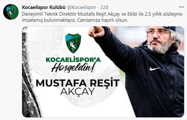 Mustafa Reşit Akçay'ın yeni adresi belli oldu!