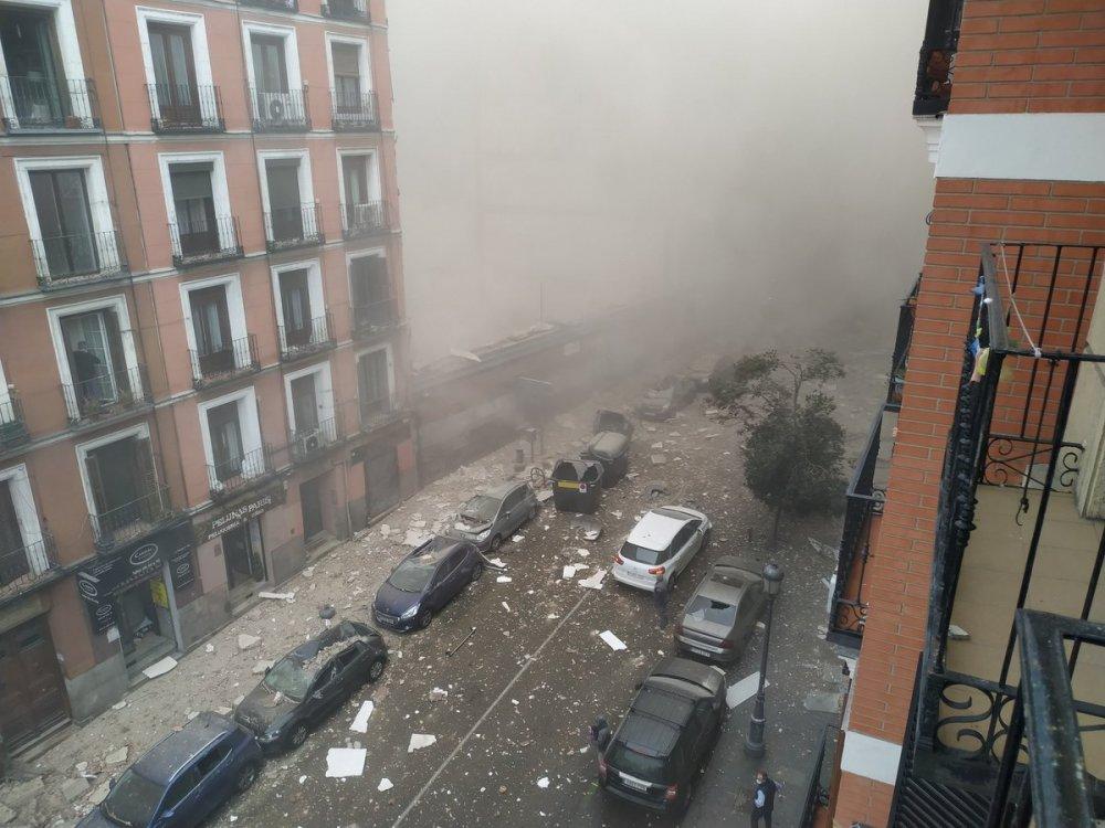 İspanya'da şiddetli patlama
