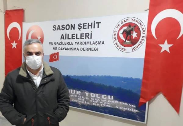 Sason'da derneğe ziyaret, Külekçi'ye teşekkür belgesi
