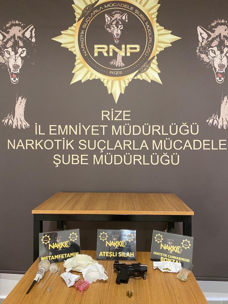 Rize'de uyuşturucu operasyonu! 3 gözaltı