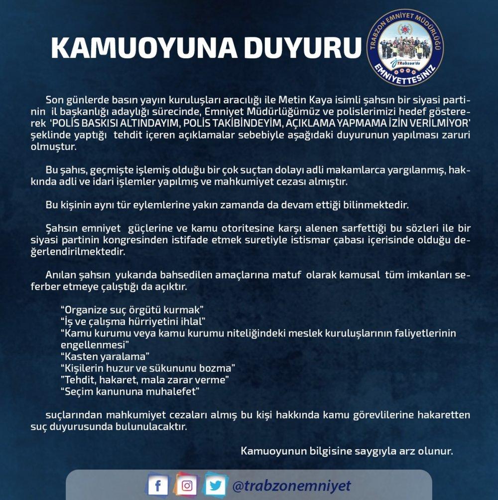 AK Parti Trabzon İl Başkan Adayı ile ilgili flaş gelişme