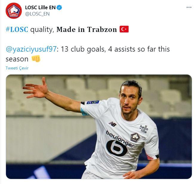 Lille'den Yusuf paylaşımı: Made in Trabzon