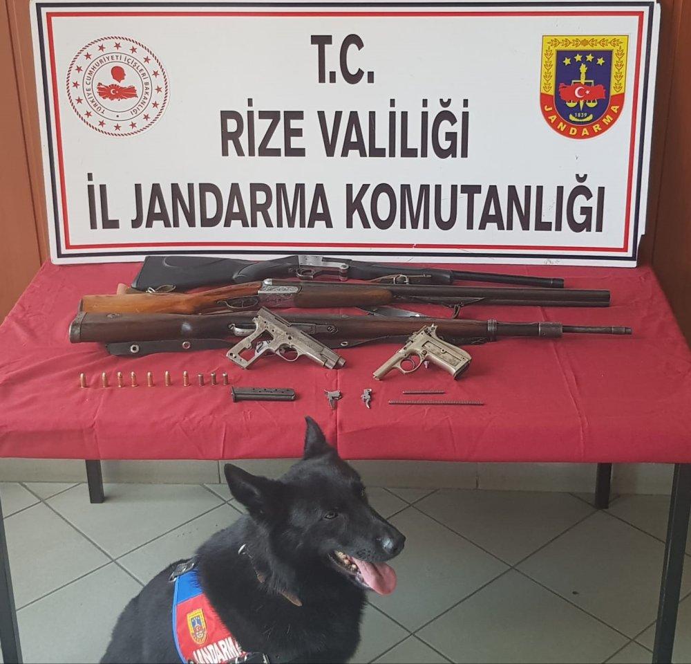 Rize'de kaçak silah imalathanesine baskın