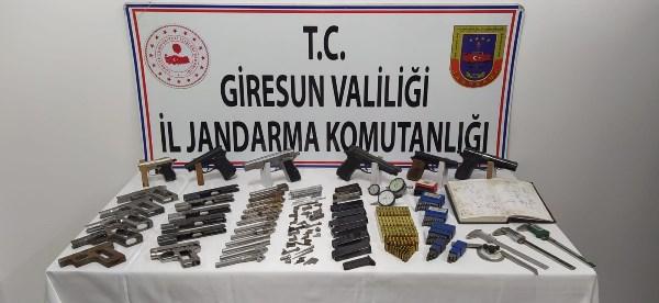 Giresun'da silah imalathanesine baskın yapıldı