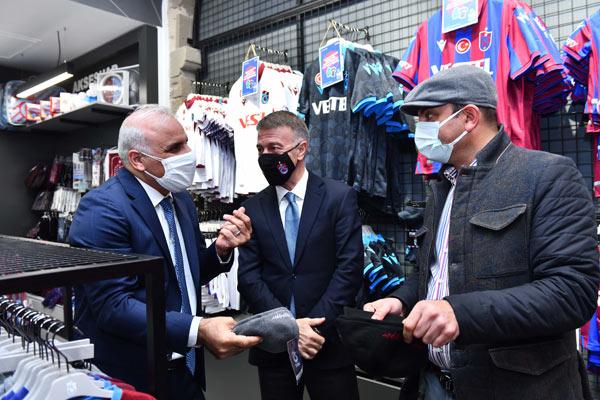 Başkan Zorluoğlu ve Başkan Ağaoğlu kasketleri taktılar