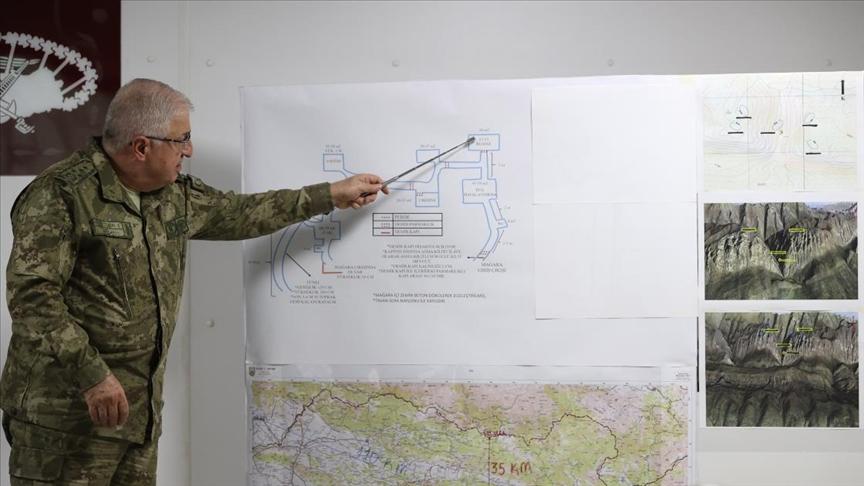 Orgeneral Güler: Harekat ile teröristlere ait karargah ve mağaraların imhası planlanmıştır