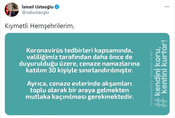 Trabzon'da cenaze namazlarına düzenleme