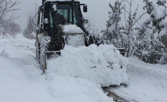 Trabzon'da kar 196 köy yolunu kapattı