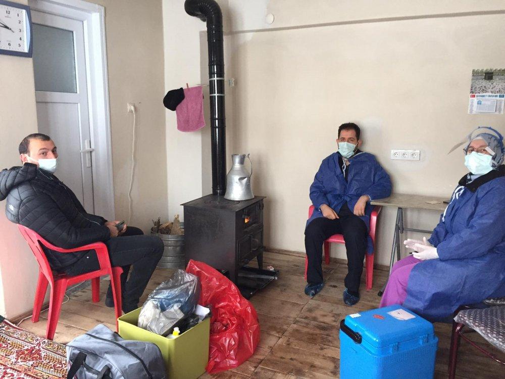 Trabzon'da aşılama çalışmaları devam ediyor