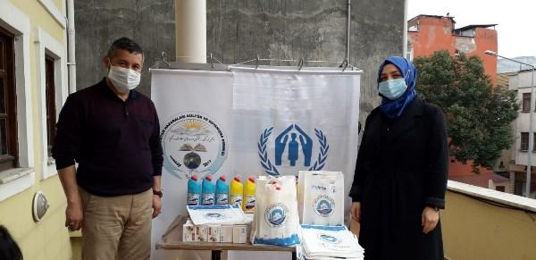 Trabzon'daki mültecilere ısıtıcı yardımı