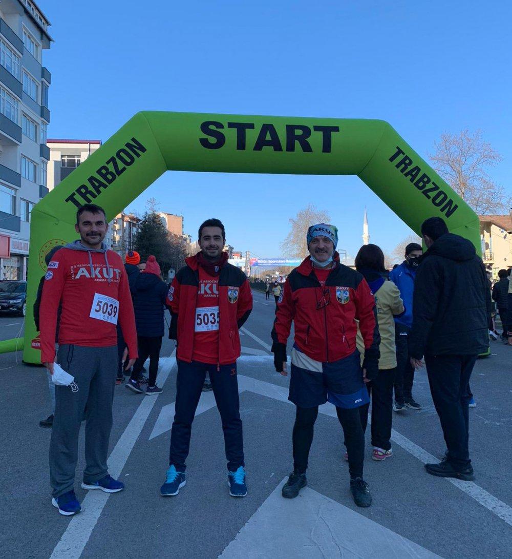 AKUT Trabzon Ekibi, Yarı Maratona katıldı