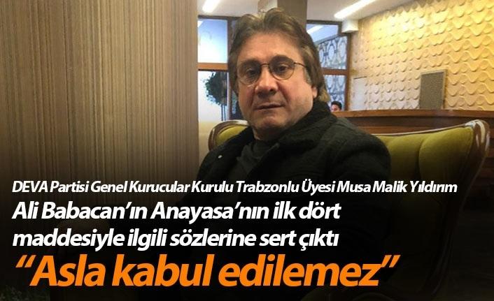 """Deva Partisi'nden Trabzonlu kurucu üye ile ilgili flaş karar! """"Kesin ihraç istemiyle..."""""""