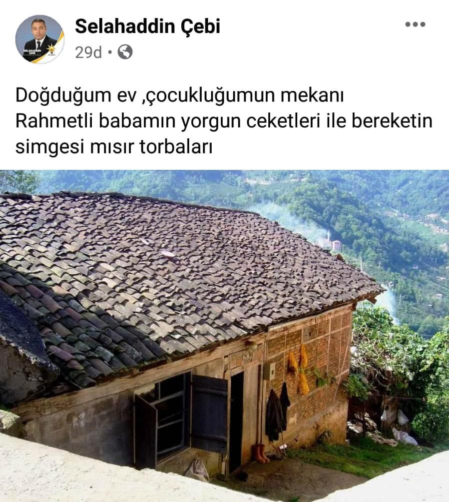 Selahaddin Çebi'nin doğduğu ev