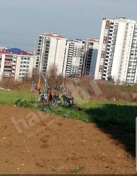 Trabzon'da paramotor düştü! 1 turist yaralı