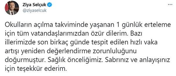 """Bakan Selçuk'tan Yüz yüze eğitim açıklaması!  """"Tespit edilen hızlı vaka artışı..."""""""