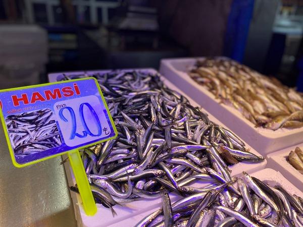 Trabzon'da hamsi fiyatı! Tezgahlarda yerini aldı