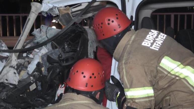 Süt tankerine çarptı :1 ölü, 2 ağır yaralı