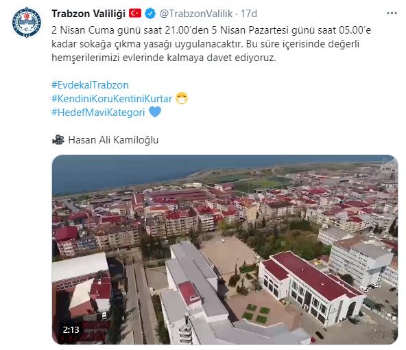 Trabzon Valiliği'nden videolu davet