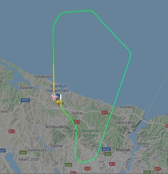THY uçağı havada arıza yaptı