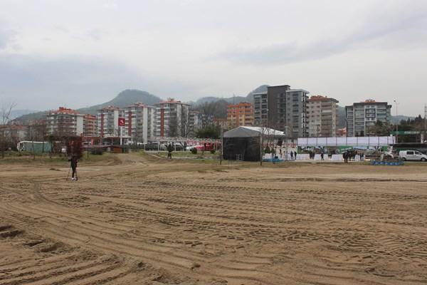 Giresun'da plajlar bölgesine ilk kazma vuruldu
