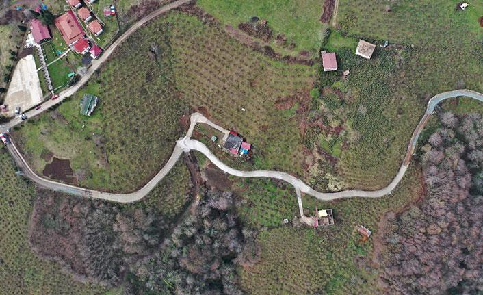 Altınordu'nun kırsal mahallelerinde beton yol seferberliği