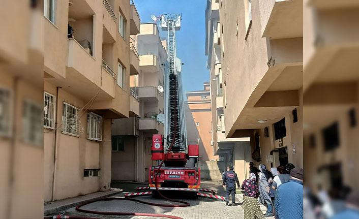 Terasta mangal yangınla sonuçlandı