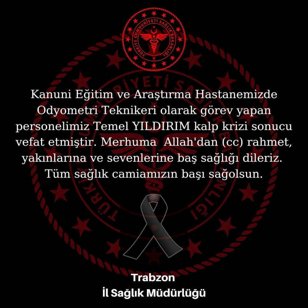 Trabzon'da sağlık çalışanı kalbine yenildi