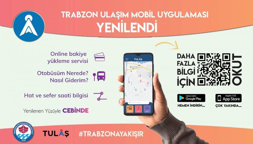 Trabzon'da ulaşımda mobil kolaylık