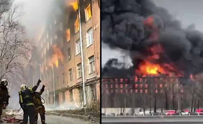 Rusya'da fabrikada çıkan yangın can aldı