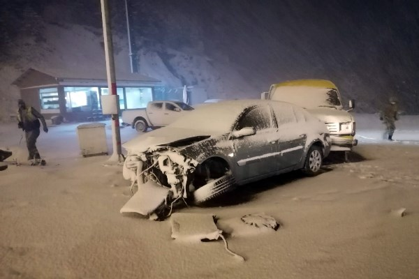 Zigana dağında trafik kazası: 1 yaralı