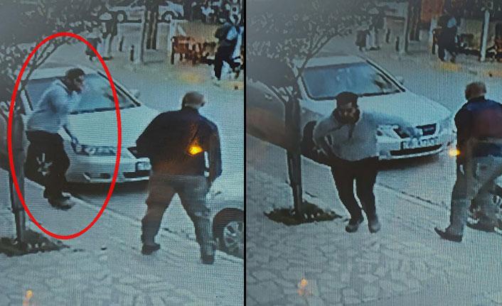Taksisi kaçırılan şoför önce çayını bitirdi sonra aracın peşine düştü