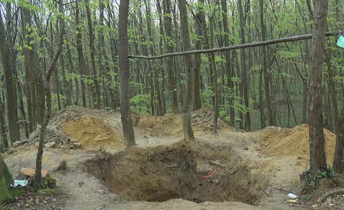 Belgrad Ormanı'nda define tahribatı