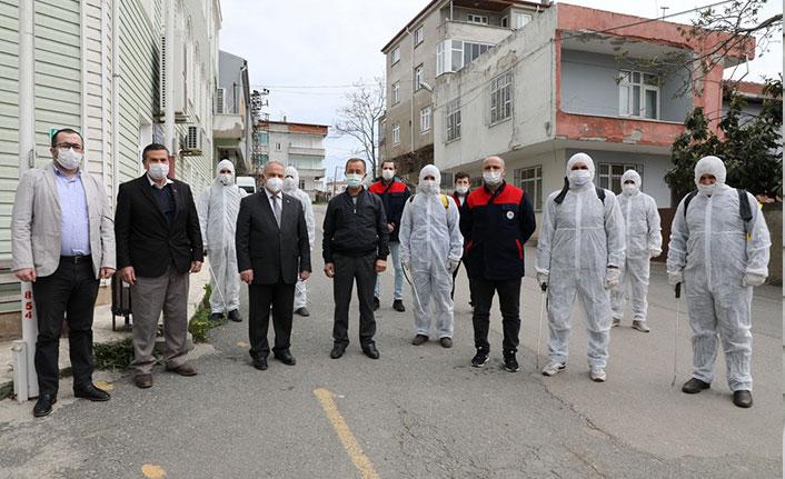 Samsun'da toplu dezenfekte seferberliği