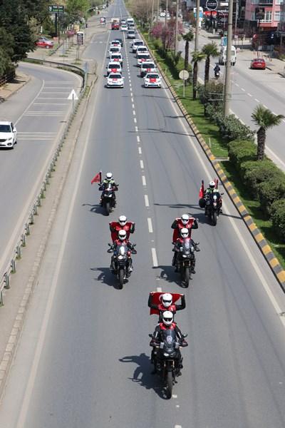 Trabzon Emniyetinden 23 Nisan konvoyu