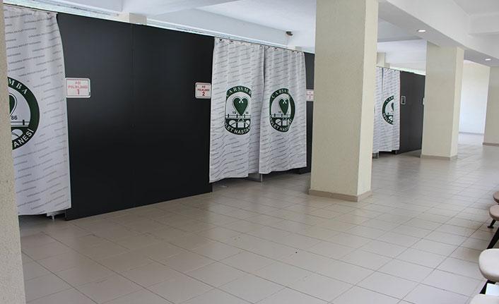 Çarşamba Devlet Hastanesi'nde aşı odaları açıldı