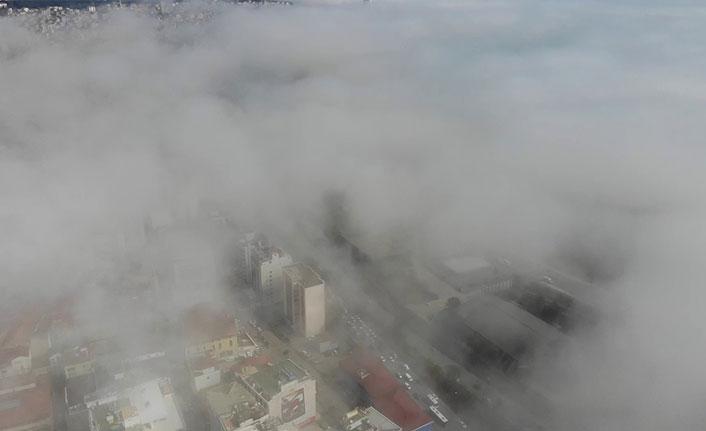 Samsun sis altında kaldı