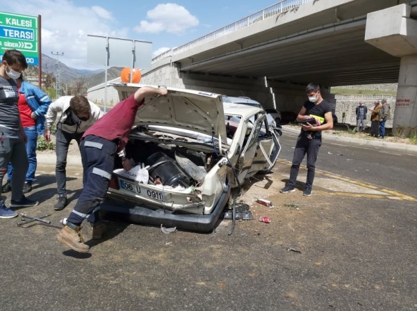 Trabzon'dan Erzurum'a giderken kaza!