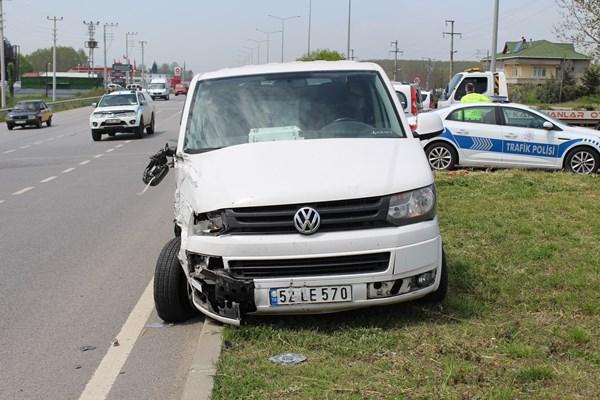 Samsun'da trafik kazası: 2 yaralı