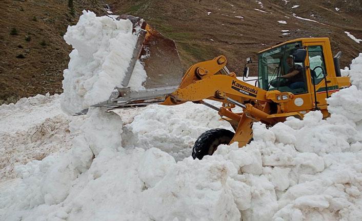 Artvin'de Nisan ayında karla mücadele