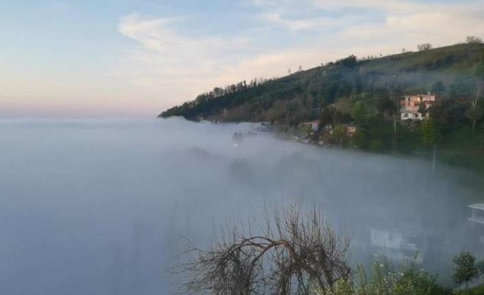 Sis bulutları görsel şölen oluşturdu