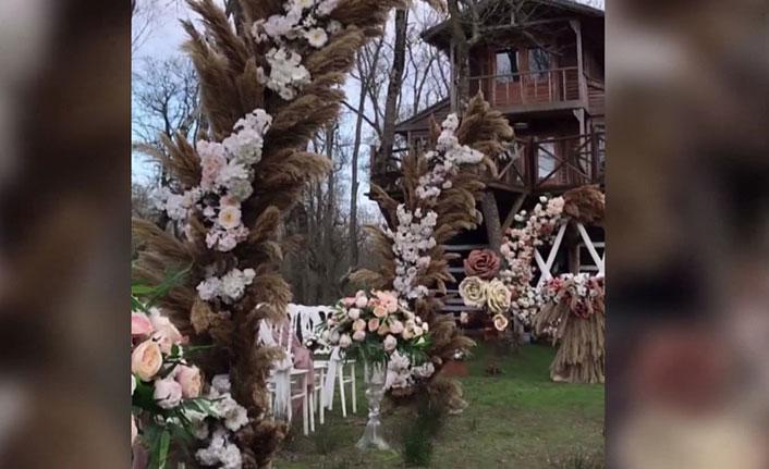 Galeriç Ormanı'nda düğün organizasyonuna tepki