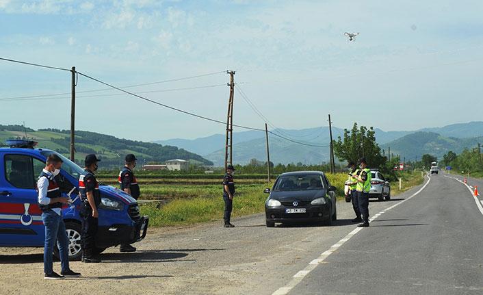 Jandarmadan drone ile yol denetimi