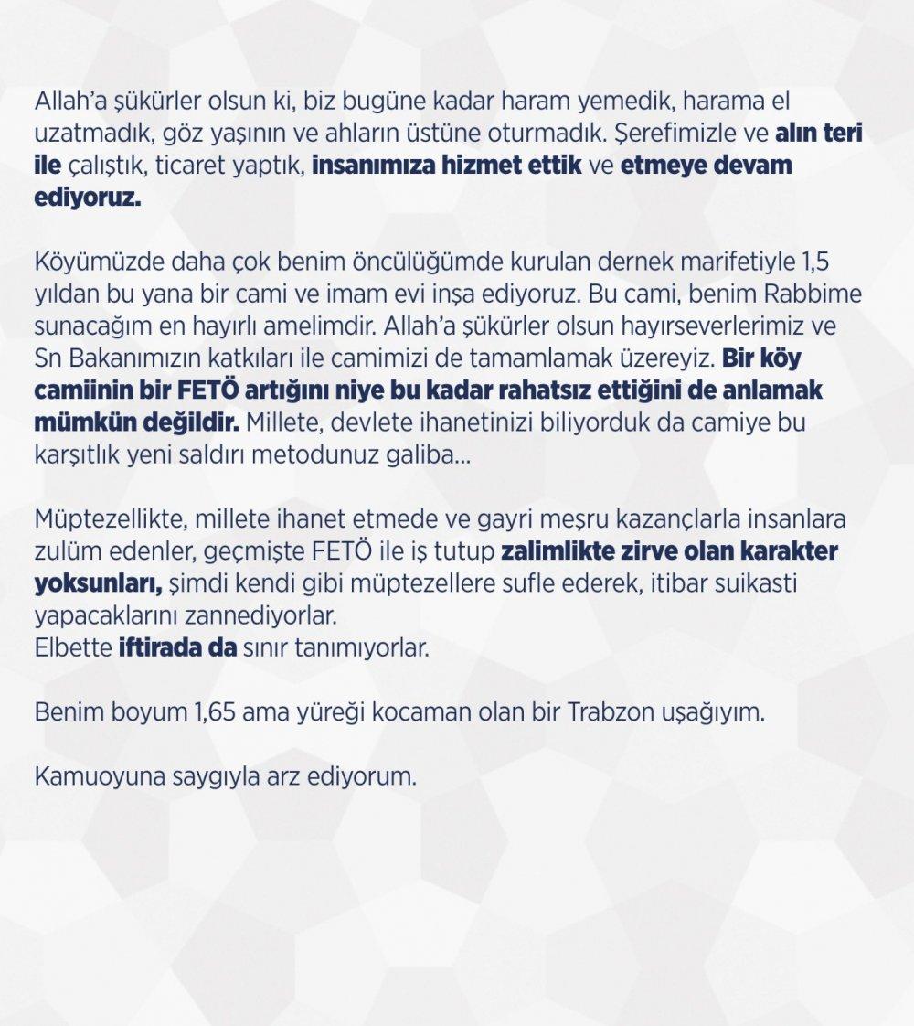 Ali Faik Hacıoğlu Sedat Peker'e cevap verdi!