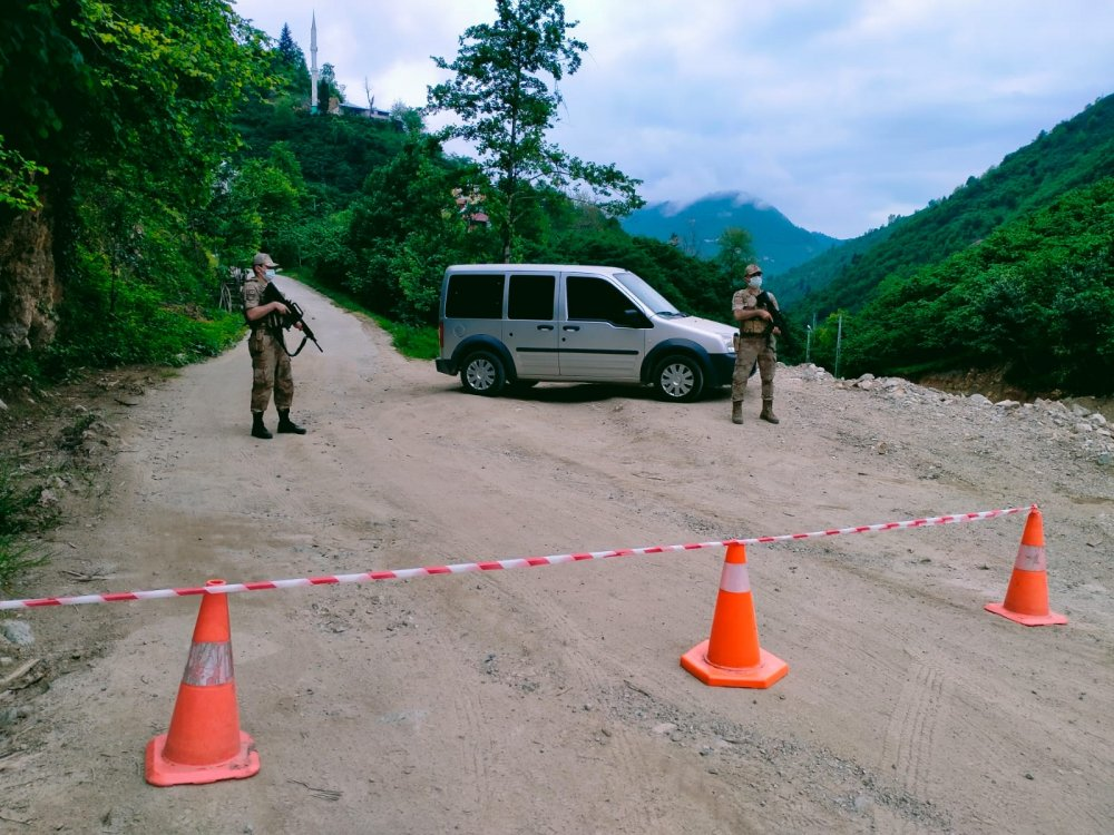 Giresun'da bir köy karantinaya alındı