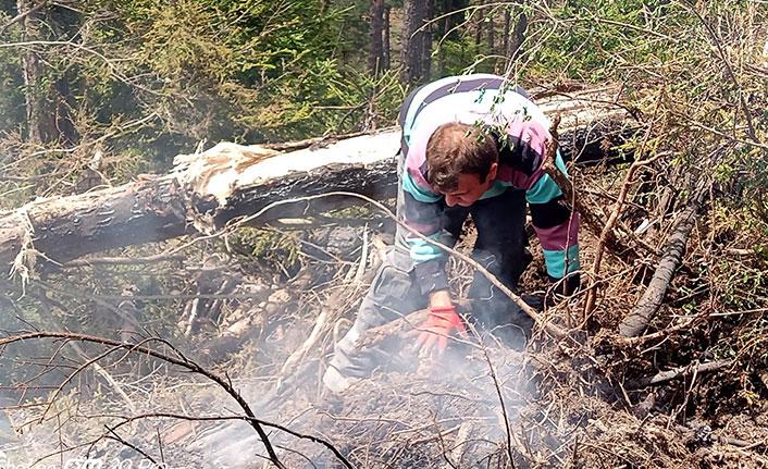 Artvin'deki orman yangınında