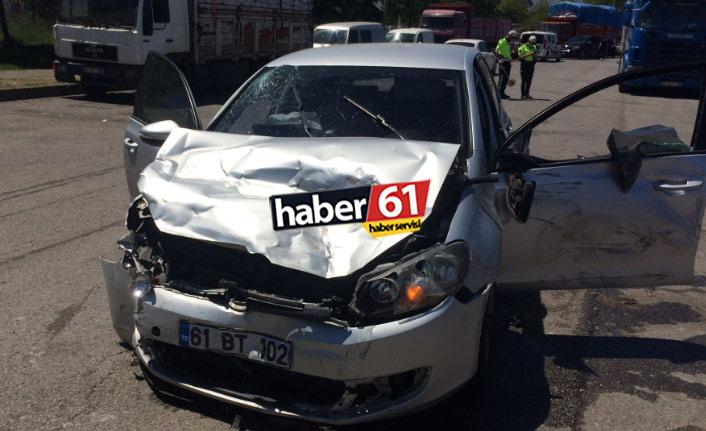Trabzon'da kaza: Tüp kamyonu ile otomobil çarpıştı