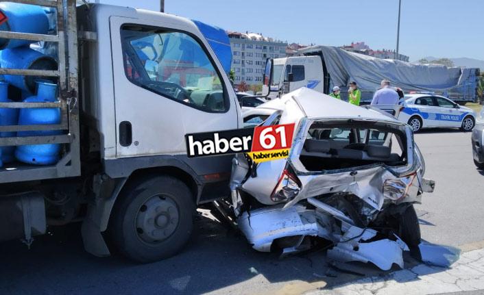 Trabzon'da zincirleme kaza: Yaralılar var