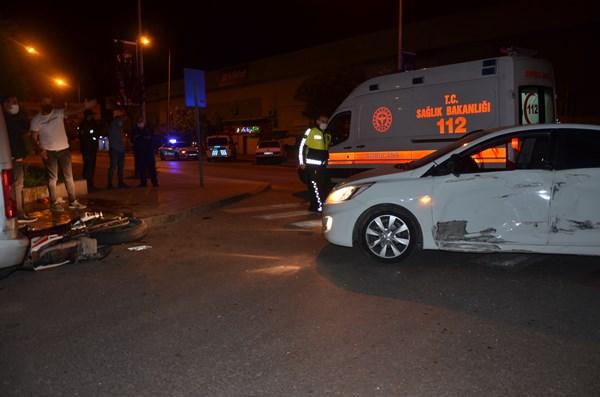 Ordu'da motosiklet otomobile çarptı: 1 yaralı